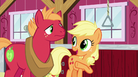 "Applejack ""we ran into Filthy Rich in town"" S6E23"