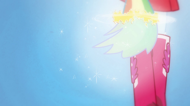 File:Rainbow Dash's hair grows into a ponytail EG.png