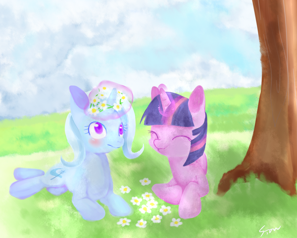 File:FANMADE Twilight and Trixie by aosion.png