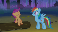 Scootaloo pretending not to be scared S3E06