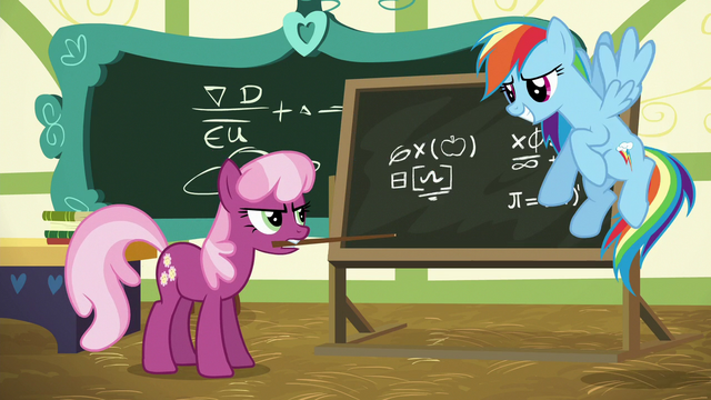 File:Cheerilee looking annoyed at Rainbow Dash S6E15.png