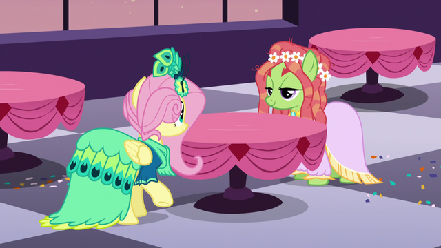 File:Fluttershy and Tree Hugger amused S5E7.png