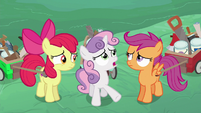 Sweetie Belle interpreting the older ponies' words S6E14