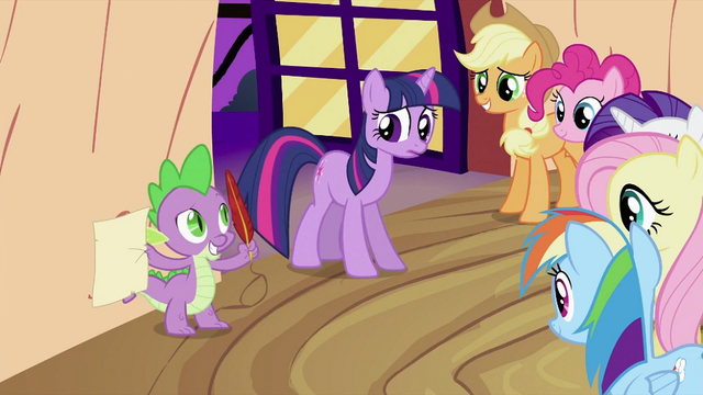 File:Spike with quill and paper S2E03.png