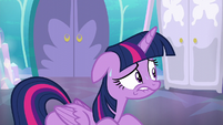 Twilight Sparkle sweating S6E1