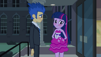 Twilight and Flash blushing EG