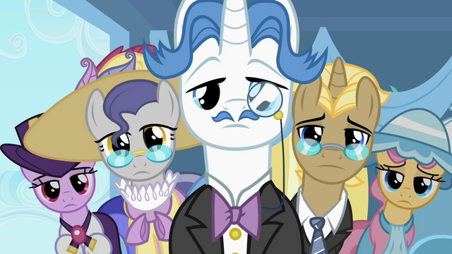File:Five fancy ponies look at Rarity S2E09.png