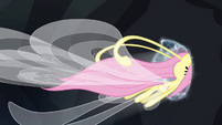 Fluttershy leaves through the portal S4E16
