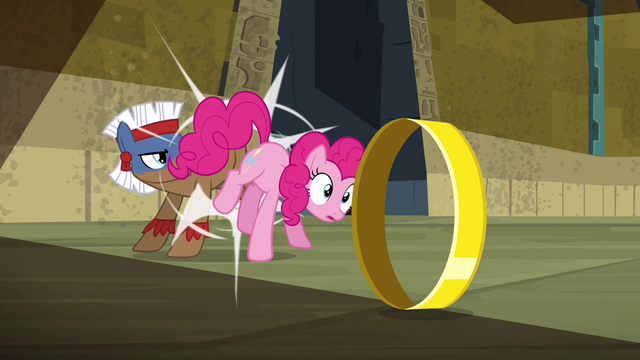 File:Pinkie Pie being kicked S4E04.png