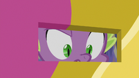Spike Changeling in castle door slot S6E25