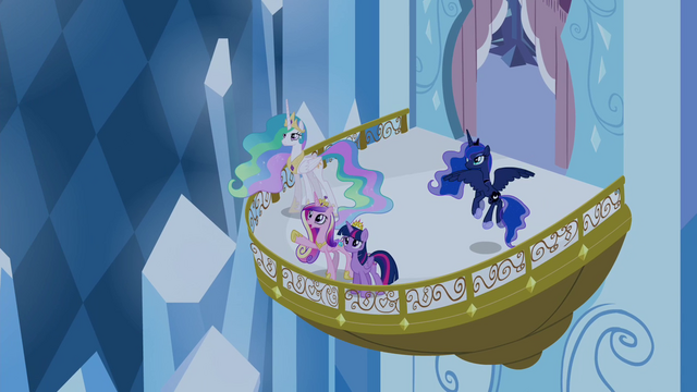 File:Twilight, Celestia, Luna, and Cadance on the balcony S4E25.png