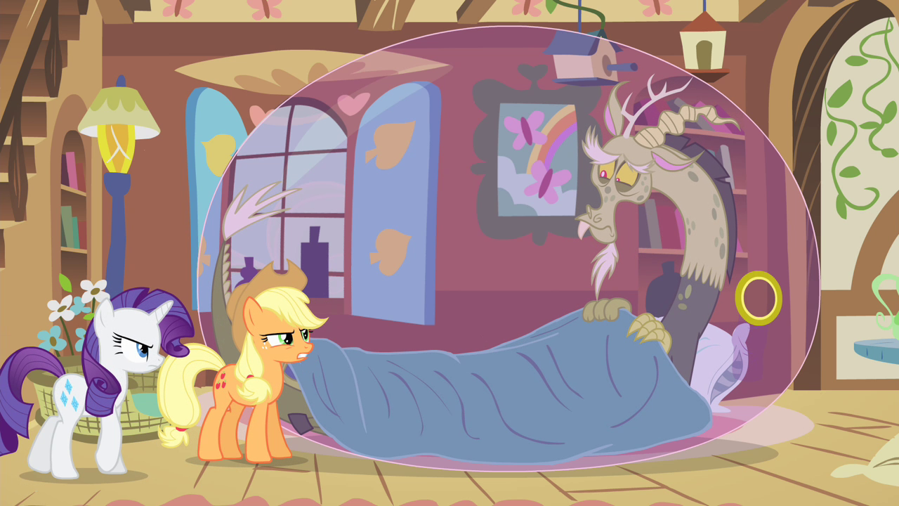 Applejack_and_Rarity_looking_at_sick_Discord_S4E11.png