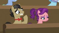 Filthy Rich and Spoiled Milk in the viewing gallery S6E23