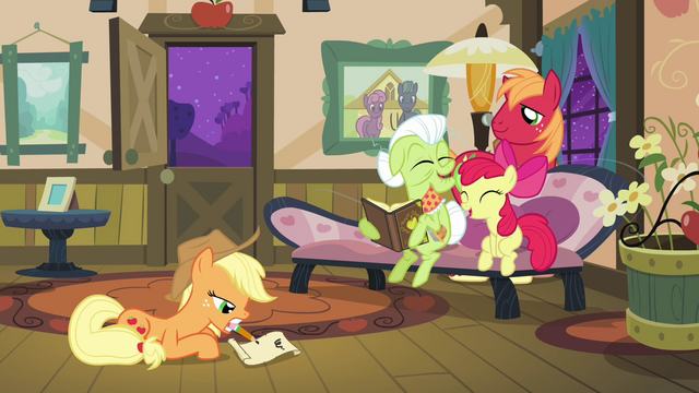 File:Applejack writing a friendship letter S3E8.png