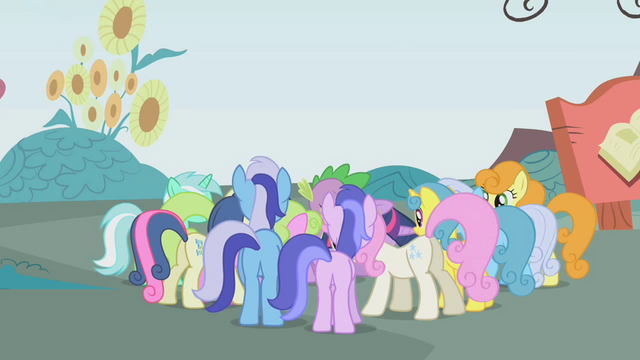 File:Crowd of ponies clamoring for the tickets S1E3.png