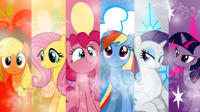 File:FANMADE My Little Pony Friendship is Magic Mane 6 wallpaper.jpg