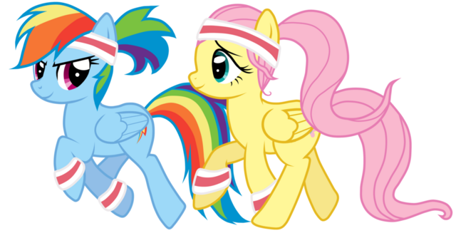 File:FANMADE Rainbow Dash and Fluttershy sport.png