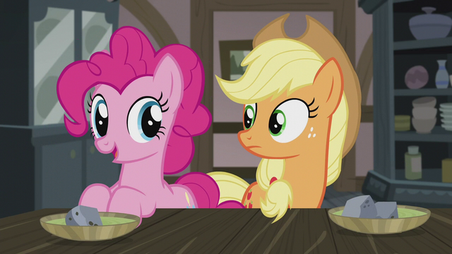 "File:Pinkie ""get to our Hearth's Warming dolls!"" S5E20.png"