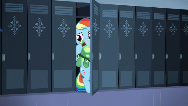 File:Rainbow hides inside a locker S5E5.png