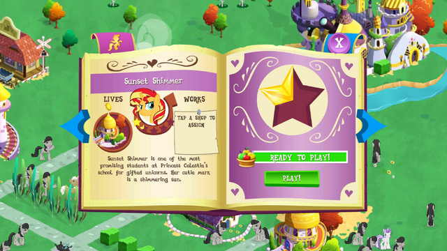 File:Sunset Shimmer album page MLP mobile game.png