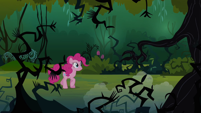 File:Pinkie walking in the Everfree Forest S3E03.png