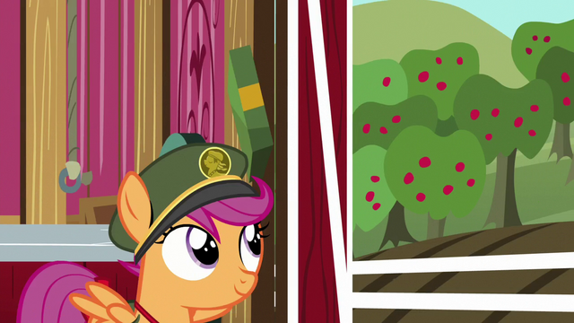 File:Scootaloo passes box on to Sweetie Belle S6E15.png