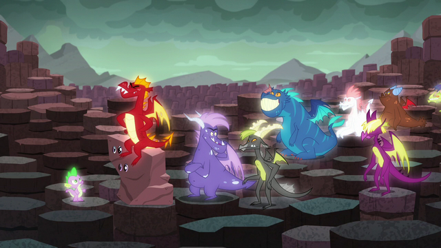 File:Other dragons laughing S6E5.png