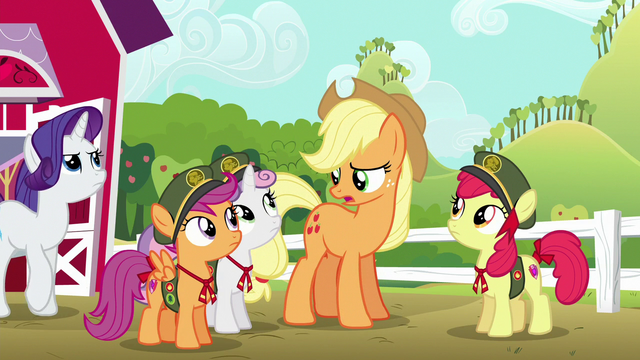 "File:Applejack ""I know you promised Scootaloo"" S6E15.png"