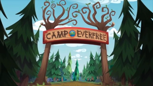 Legend of Everfree background asset - Camp Everfree entrance