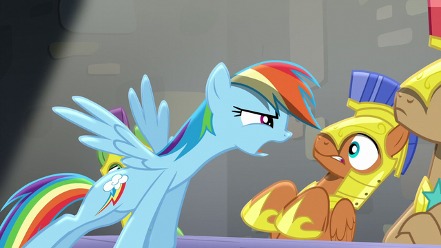 "File:Rainbow ""What are you tryin' to say"" S5E15.png"