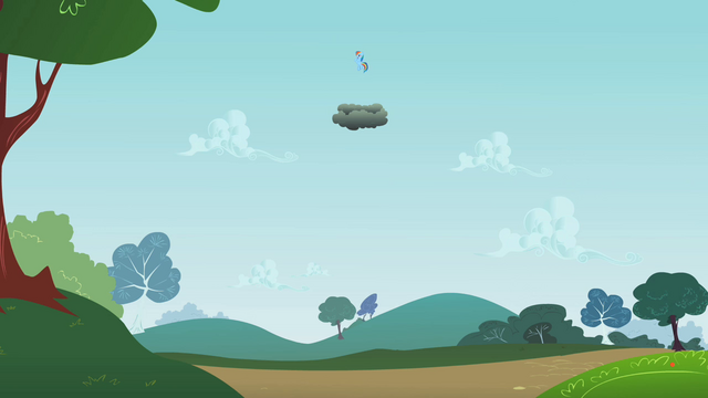 File:Rainbow Dash above the thundercloud S2E08.png