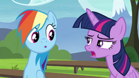 Twilight explains the E.U.P. to Rainbow S4E21