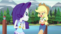 "Applejack ""the stitching on your poncho"" EG4.png"