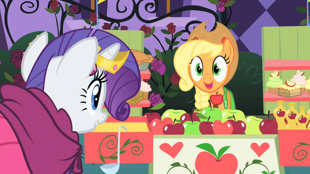 File:Applejack excited to see Rarity walk over S1E26.png