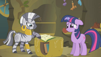 Twilight Looking At Book With Zecora S1E09