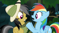 Rainbow grabs Daring's collar S4E04