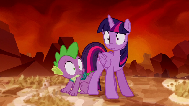 File:Twilight Sparkle and Spike hears something S5E26.png