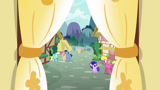File:View of Ponyville from Sugarcube Corner S5E7.png