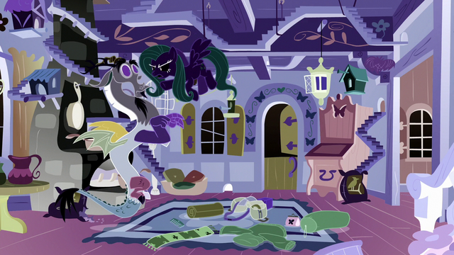 File:Opposite Fluttershy snaps at Discord S6E17.png