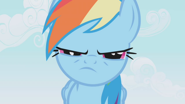 File:Rainbow Dash narrow eyes S01E04.png