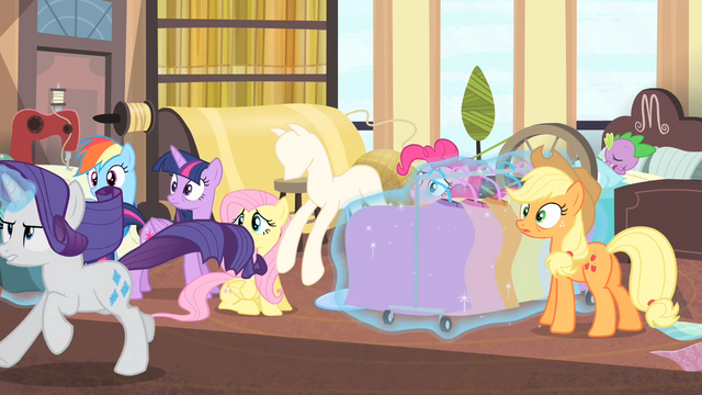 File:Rarity runs with her new clothing line S4E08.png