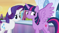 Twilight not yet accustomed to her wings EG