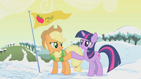 Applejack and Twilight brohoof S01E11