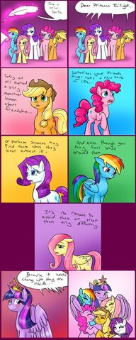 File:FANMADE COMIC Mane 5 letter to princess twilight.jpg
