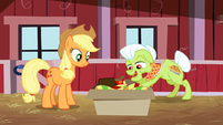 Granny Smith digging in the box S3E8