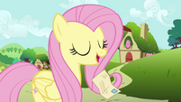 Letter falls out of Fluttershy's mouth S2E19