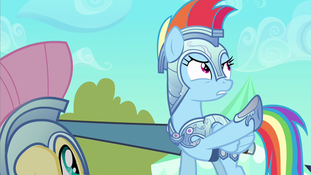 File:Rainbow Dash showing these ponies S3E2.png