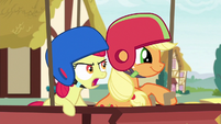"Apple Bloom shouting ""go a little faster!"" S6E14"