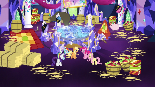 File:Mane Six in cluttered throne room S5E3.png