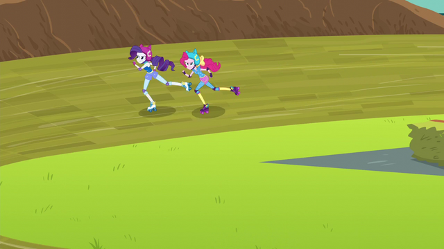 File:Pinkie and Rarity on the track EG3.png
